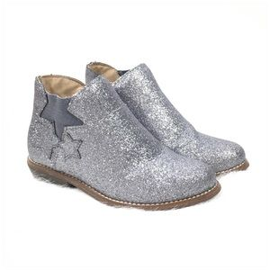 Hanna Andersson Silver Glitter Krista Ankle Boot